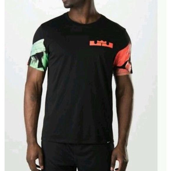 e1f7cf114 Nike Lebron James Neon Hawaiian Shirt Dri Fit. M_5a98a84536b9de3e98cd8414